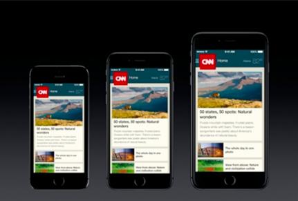 Aplicativos no iPhone 6 e 6 plus
