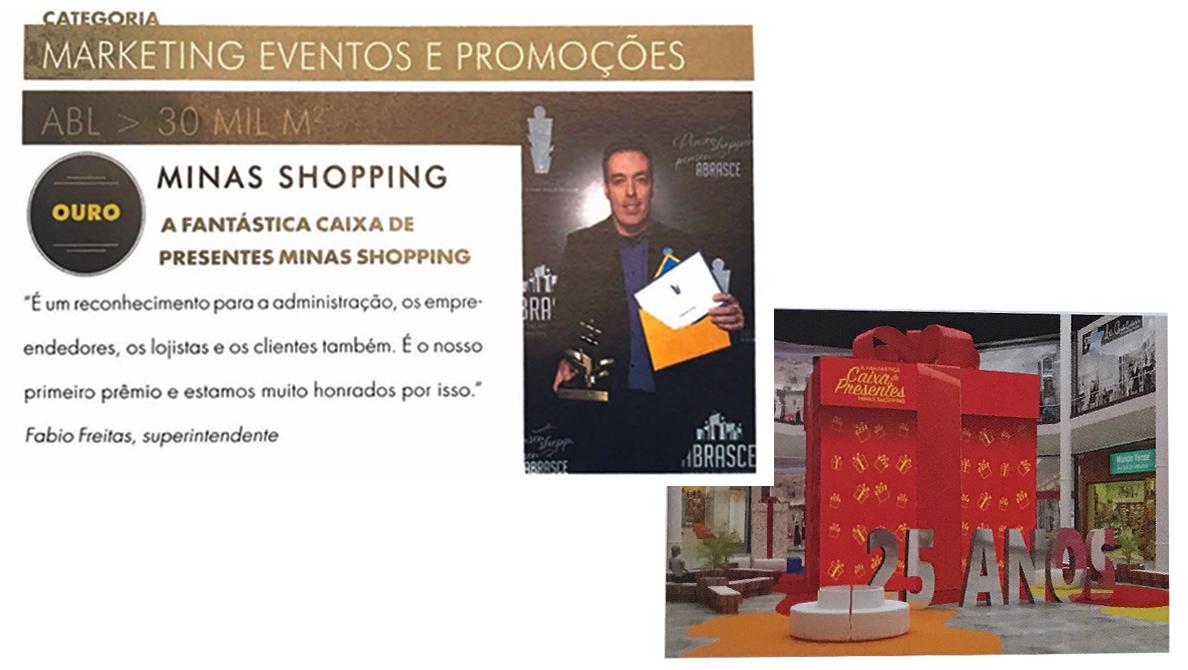 Promoção Minas Shopping com EasyPromo ganha prêmio Abrasce